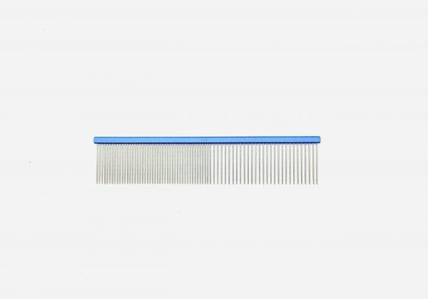 "Pet Grooming Comb 7.5"" Coarse/Fine, Blue Coloured 1"