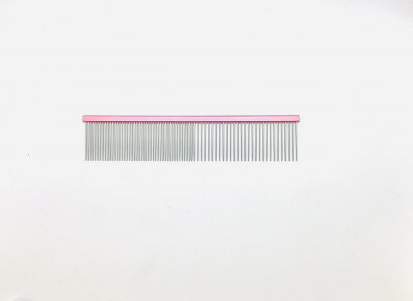 """Pet Grooming Comb 7.5"""" Coarse/Fine, Pink Coloured 1"""