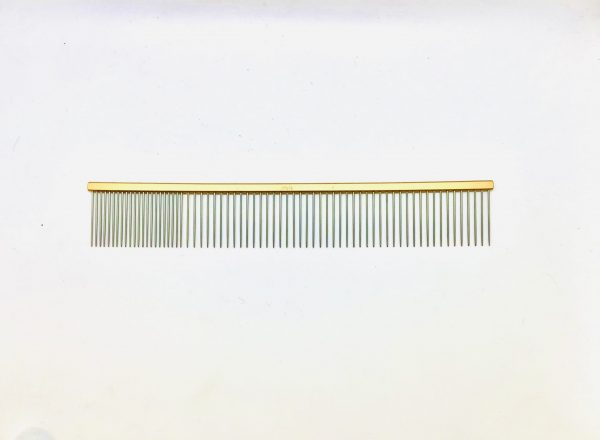 """Pet Grooming Comb 9.5"""" Coarse/Fine, Gold Coloured 1"""