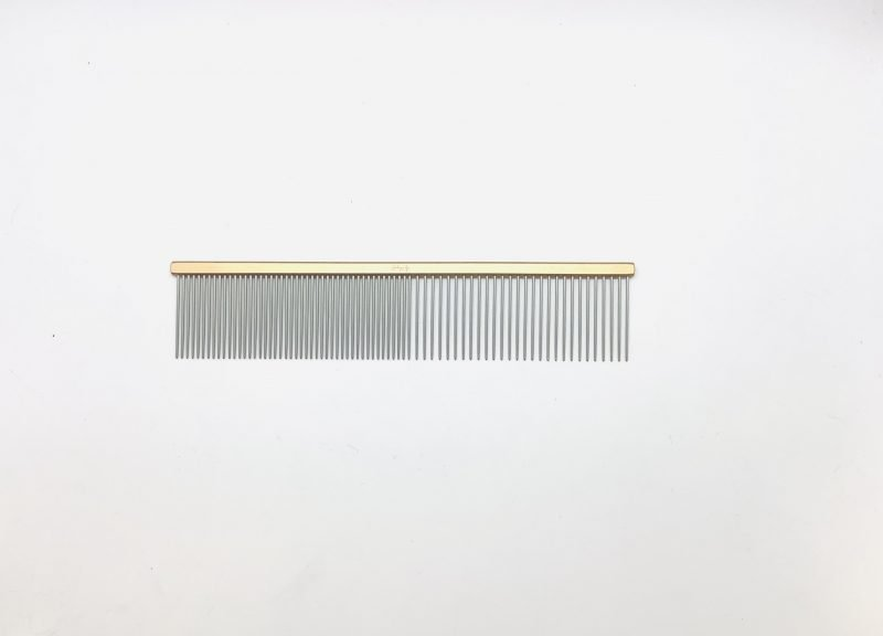 """Pet Grooming Comb 7.5"""" Coarse/Fine, Gold Coloured 1"""