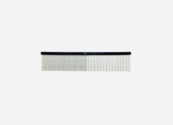 "Pet Grooming Comb 7.5"" Coarse/Fine, Black Coloured 1"