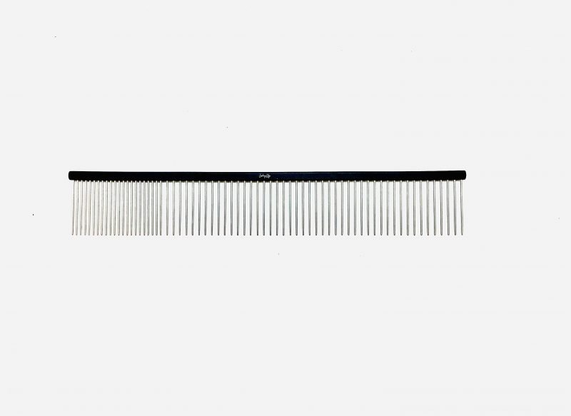 "Pet Grooming Comb 9.5"" Coarse/Fine, Black Coloured 1"