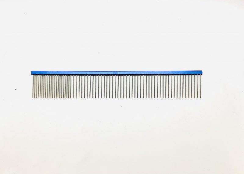 "Pet Grooming Comb 9.5"" Coarse/Fine, Blue Coloured 1"