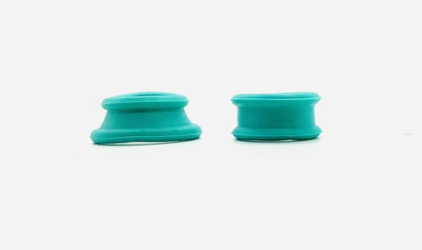 Roseline Silicone Finger Inserts for Scissors - Solid Green