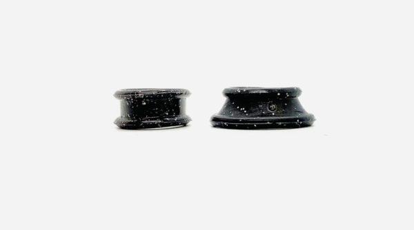 Roseline Finger Inserts for Scissors - Sparkling Black