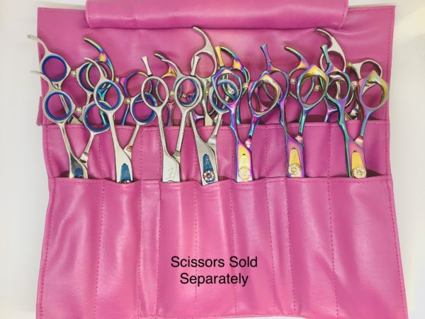 Scissor Roll Up for Grooming Tools Holds 14 Pce - Wine 3