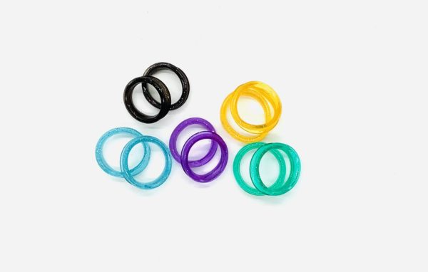 Finger Inserts for Scissors - Assorted Colors 6 Pack