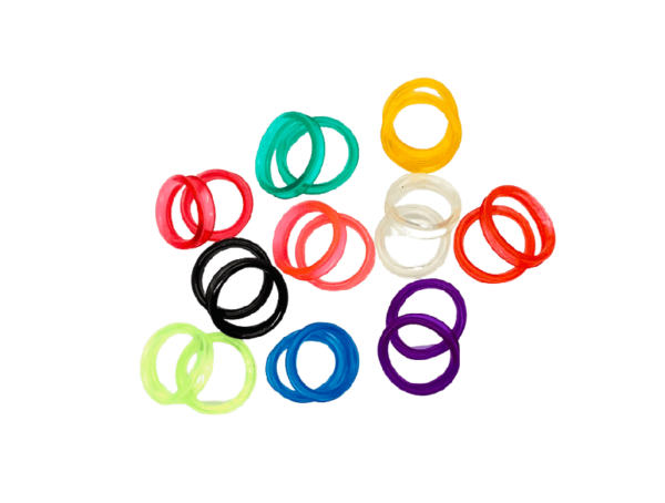 Finger Inserts for Scissors - Assorted Colours 10 Pack 1